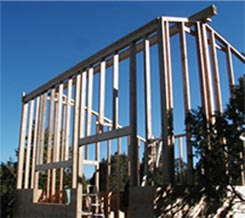 image of house being framed